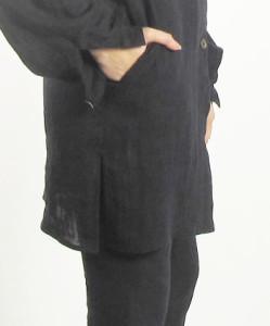 particolare spacco e tasca